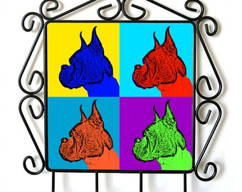 Boxer- clothes hanger with an image of a dog. Collection. Andy Warhol Style
