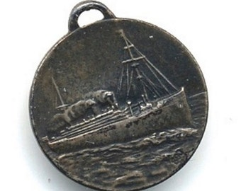 1930s Miniature SS Duilio Pendant