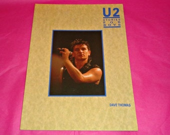 U2 Stories For The Boys Book Music Memorabilia Bono Irish The Edge Paperback Vintage Orginal Version One Of The First Books On The Rock Band