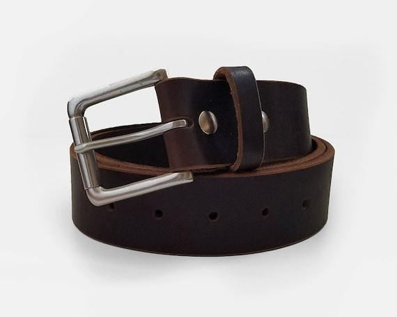 brown latigo horween leather belt 1 5 w by shumdesigns