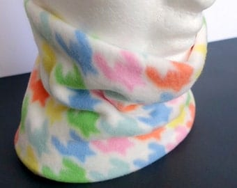 Neckwarmer, fleece, multi-coloured, snug, ski, snowboard, outerwear