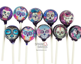 Catrina Festival Lollipops (10 Designs) Handmade Gourmet Candy Exquisite Gift Pack
