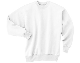 White Crew Neck Childrens Sweatshirt / New / Blank / Cheap