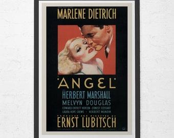 VINTAGE MOVIE POSTER -  Marlene Dietrich Poster - Angel Movie Poster, 1940's Retro Poster, Retro  Movie Poster, Classic Movie Poster