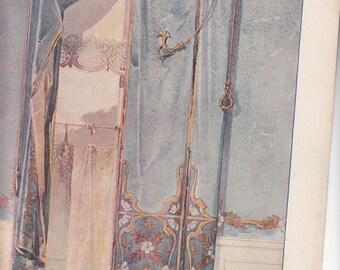"""Art Nouveau 1911 Print Decor De Fenetre (window) Treatment,Le Journal de la Decoration,10-"""" X 14.5"""""""
