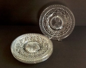 Imperial Cape Cod Glass Plates, Set of 4, Luncheon, Salad or Dessert Plates