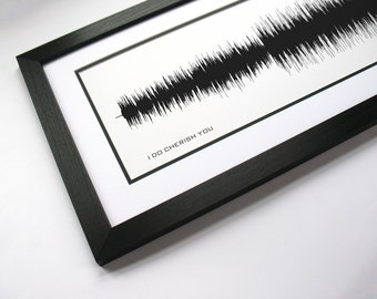 I Do (Cherish You) - Music Art Sound wave Print - Song Lyric Art, Band Poster