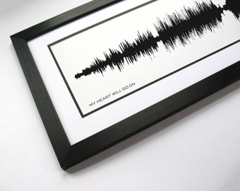 My Heart Will Go On - Movie Soundtrack Sound Wave Art - Created From Entire Song