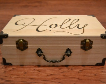 Personalized Name Wood Burned Box