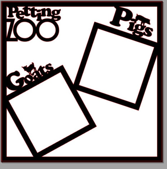 petting zoo scrapbook cardstock 12x12 by jenshomemadecreation. Black Bedroom Furniture Sets. Home Design Ideas