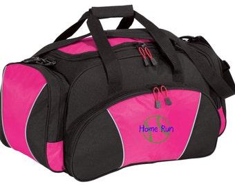 Softball Gym Bag - Personalized - Monogrammed - Embroidered - Sports Bag - Sports Gift - Softball/Baseball Duffle Bag - BG91