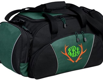Hunting Gym Bag - Personalized - Monogrammed - Embroidered - Sports Bag - Sports Gift - Antlers Duffle Bag - BG91