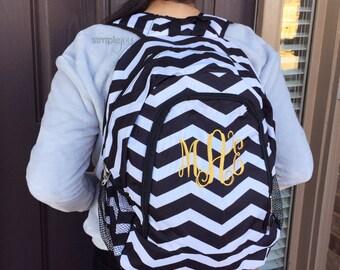 Many Colors- Personalized Backpack, Black & White Backpack, Chevron Backpack, Monogrammed Backpack, Girl Backpack, Diaper Backpack, Navy Bag