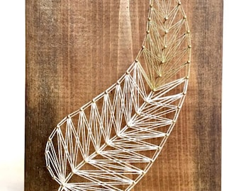 """String Art, String Art Feather, """"Lost Boys Feather"""""""