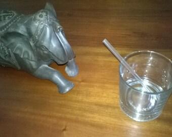 Pair of Glass Drinking Straws - 150mm Length (6mmx1mm) Borosilicate Pyrex Medical Grade Glass Straws