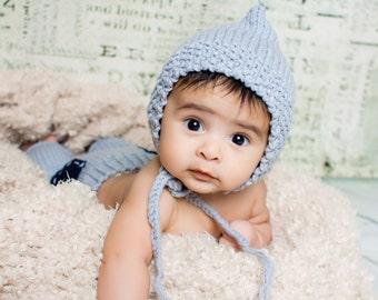 Newborn pant and hat photography prop 4-6 months, crochet baby photography bonnet