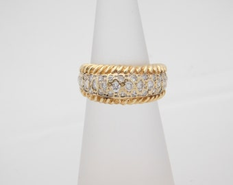 0.50 Carat T.W. Round Cut Diamond Band 10K Yellow Gold Ring