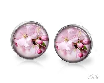 Earrings flowers - cherry blossom 2