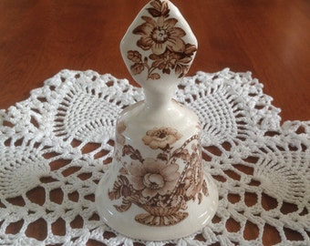 Royal Crownford CHARLOTTE Bell - Brown and White Transferware Ironstone