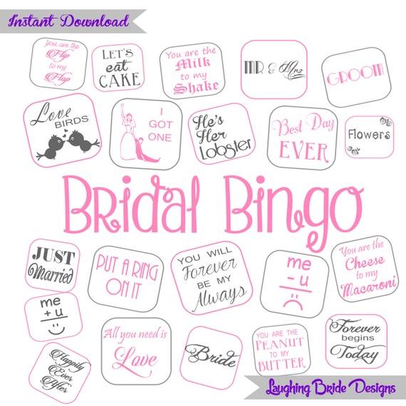 Sale 30 Cards Bridal Bingo Bridal Shower Bingo Hen Party