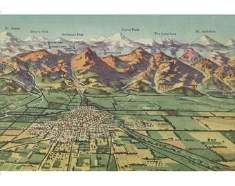 Items similar to rocky mountains the continental divide for T shirt printing loveland co