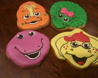 Barney and friends cookies