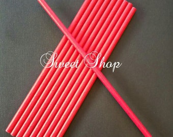 Red Paper Straws (25 Pack)