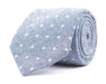 Navy Dot Necktie