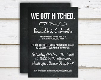 Charlotte - Printable Elopement Reception Invitation