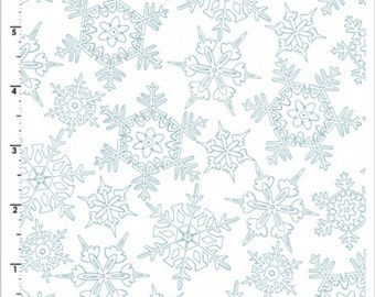 Frolic in the Snow Cotton Flannel by Kris Lammers for Maywood Studios MASF8705-W YARD Cut
