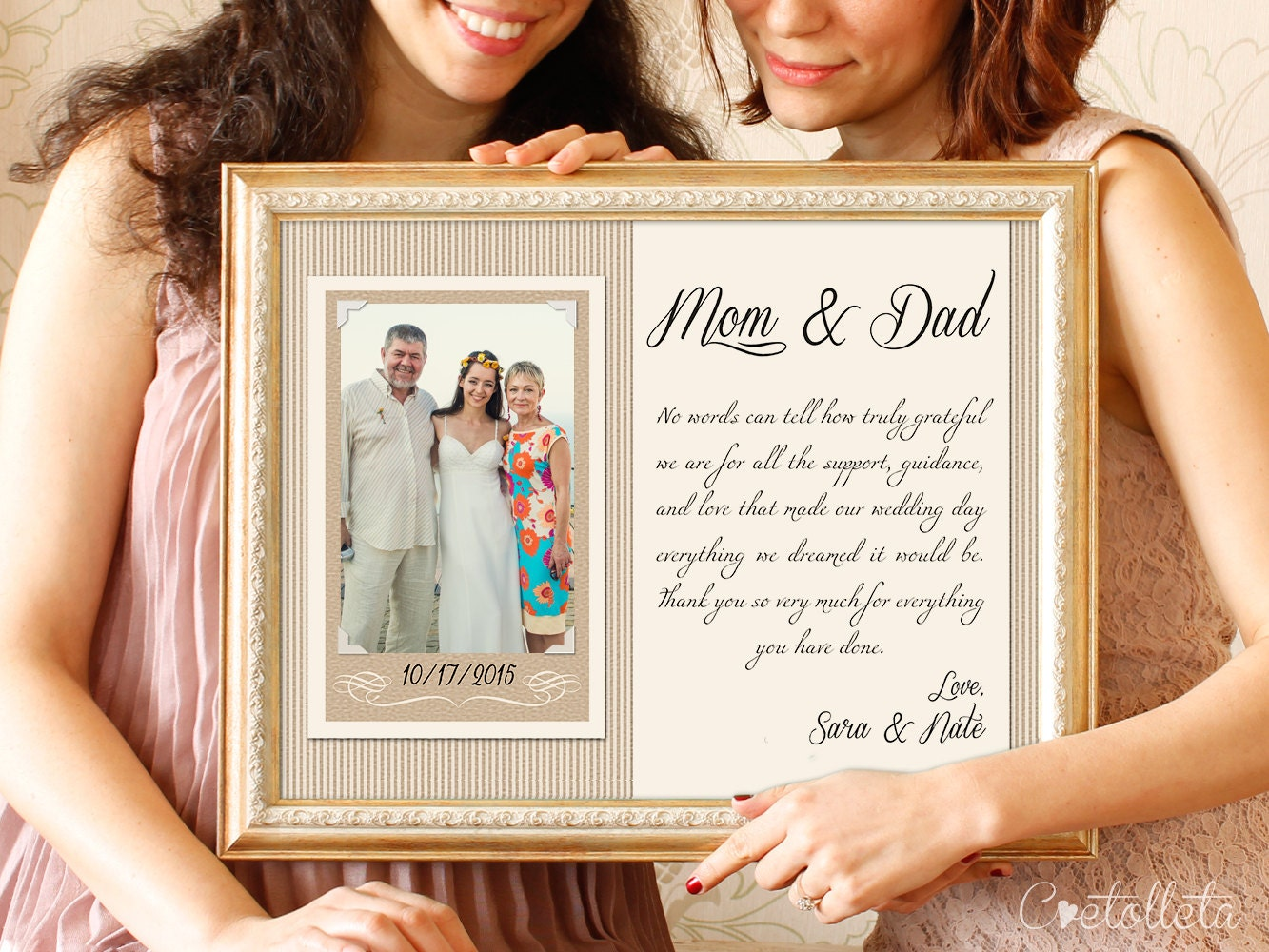Parent Gift Ideas For Wedding: Thank You Parents Wedding Gift Parents Thank You Gift
