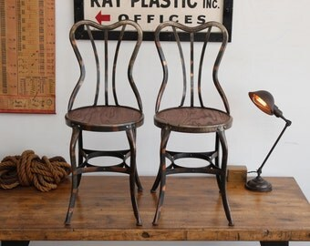 antique cafe chairs