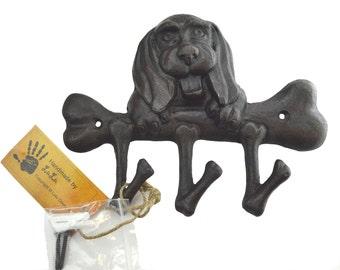 Cast Iron Dog & Bone Key Holder [LZ30B]