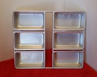 Vintage wilton mini loaf pans set of 6