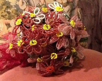 Vintage Beaded Flower Bouquet