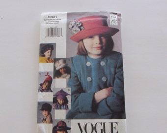 Vogue Child's Hat Pattern No 8831- Uncut