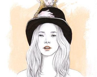 Monkey Magic A4 Art Print