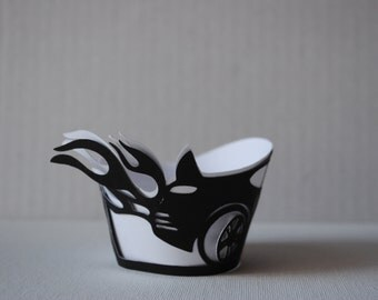 10 Pcs Racing Car Cupcake Wrapper/Cover