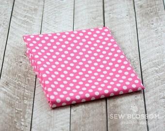 Hot PINK Small Polka Dot Fabric Polkadots Print C350-70