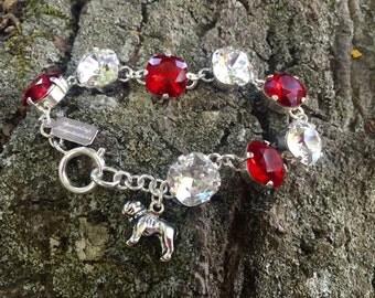 MSU Mississippi State University Bulldog Swarovski Crystal Bracelet