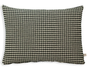 Pierre Frey Fabric Cushion Cover Concorde Geometric Black White Designer Pillow