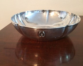 "Antique Arts & Crafts The Kalo Shop Sterling Silver 5 Lobed 7"" W Bowl!! 266 Grams!!"