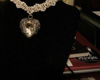 Crystal Heart Choker