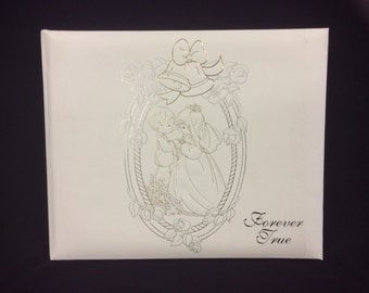 Precious Moments Wedding Guest Book,Signature Book, White,Wedding