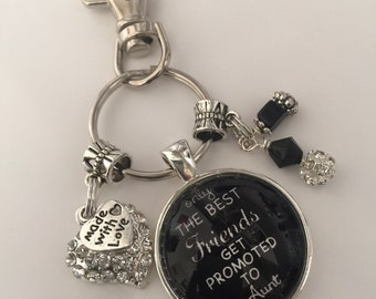 Aunt keychain! Pregnancy announcement! Personalize, customize, make it your own!