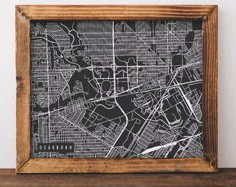 Dearborn Map Dearborn Art Dearborn Map Art Dearborn Print Dearborn Printable Dearborn City Art Dearborn City Map Michigan Art