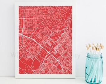 Tustin Map Tustin Art Tustin Map Art Tustin Print Tustin Printable Tustin City Art Tustin City Map California Art