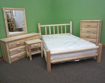 Handcrafted Log Bedroom Suite Queen - 5pc