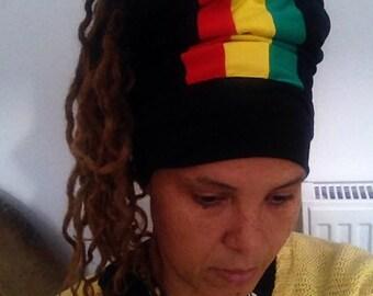 Royalnatty Rasta headwrap dreadband boboshanti Sizzla Nyabinghi Rasta tam opentop loc soc