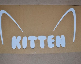 "Window Decal, Kitten, 4"" x 6"", ST-047b"